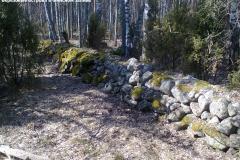Финские укрепления на Западном березовом острове
