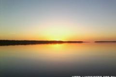 Закат на Западном березовом острове