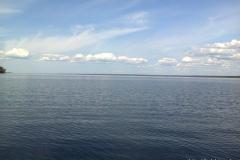 Вид с большого березового острова на Бъёркезунд