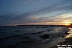 Закат в южной части, остров Большой березовый