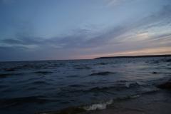 Большой березовый остров, вечером