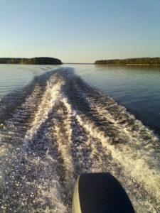 Моторная лодка Прогресс-2 с ПЛМ 30 л.с. Малый Петровский пролив, Березовые острова