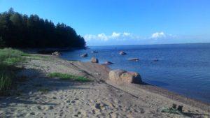 Солнечный пляж на Северном березовом острове
