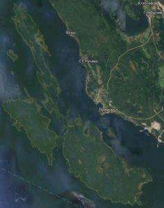 Березовые острова, вид со спутника